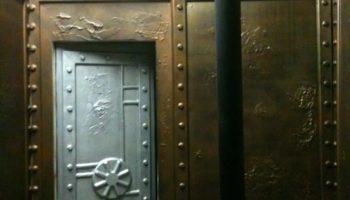 steel wall, vault door