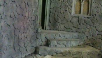 fieldstone wall-window